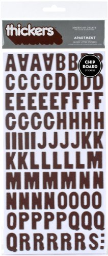 - American Crafts Thickers Glossy Chipboard Letter Stickers, Apartment Coffee