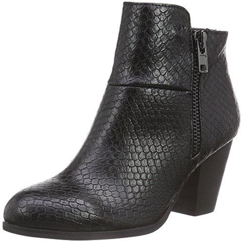 La Strada Graue Kroko-Schlangen-Look Stiefeletten - botas de material sintético mujer negro