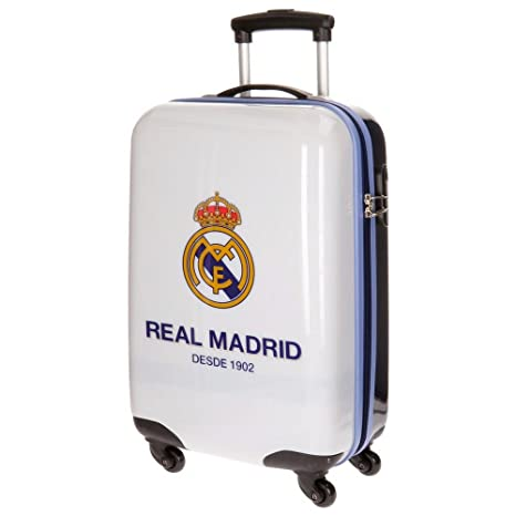 Real Madrid One Color One Club Equipaje Infantil, 55 cm, 33 litros, Blanco
