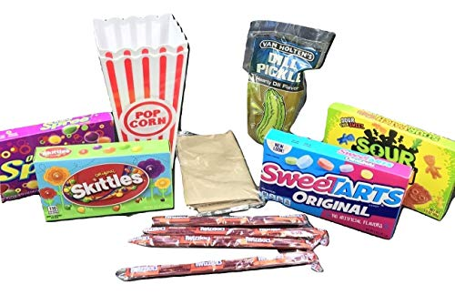 Movie Night Ultimate Gift Box Bundle Care Package, Easter, Valentines, Gift Basket, Date or Family Night, Christmas, Birthday, Mother's Day