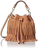 Rebecca Minkoff Fringe Fiona Bucket Shoulder Bag, Cuoio, One Size