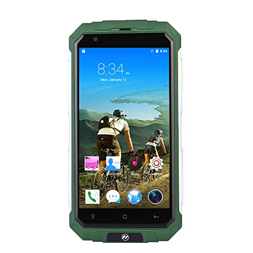 Padgene V9+ Android 5.1 MTK6580 Waterproof 3G Unlock Smartphone,Built in GPS Navigation AGPS,1.2GHz Quad Core Dual Sim Outdoor Sports Cellphone (Green)