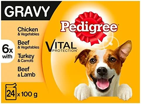 Pedigree Dog Pouches Mixed Selection in Gravy 24 x 100g – Dogs Corner