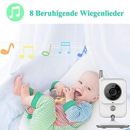 EYSAFT Babyphone mit Kamera Video Baby Monitor 3.2 Zoll Babyfon mit Talk Back und Temperaturüberwachung,Nachtsichtkamera,Schlaflieder,Nachtsicht, Intercom-Funktion VOX 5