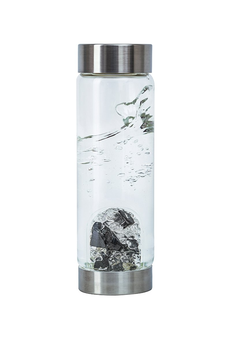 VitaJuwel Gemwater Infused Glass Bottle with Crystals Gemstone (Vision)