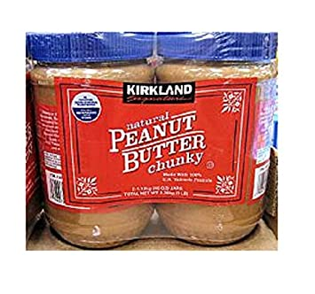 Kirkland Signature Natural Peanut Butter Chunky, Made with ...