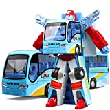 Cyeah Bus Transform into Robot Toy for Kids(Blue)