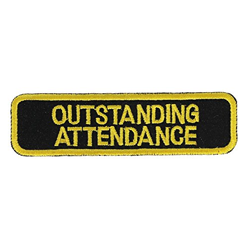 Outstanding Attendance Patch: Yellow