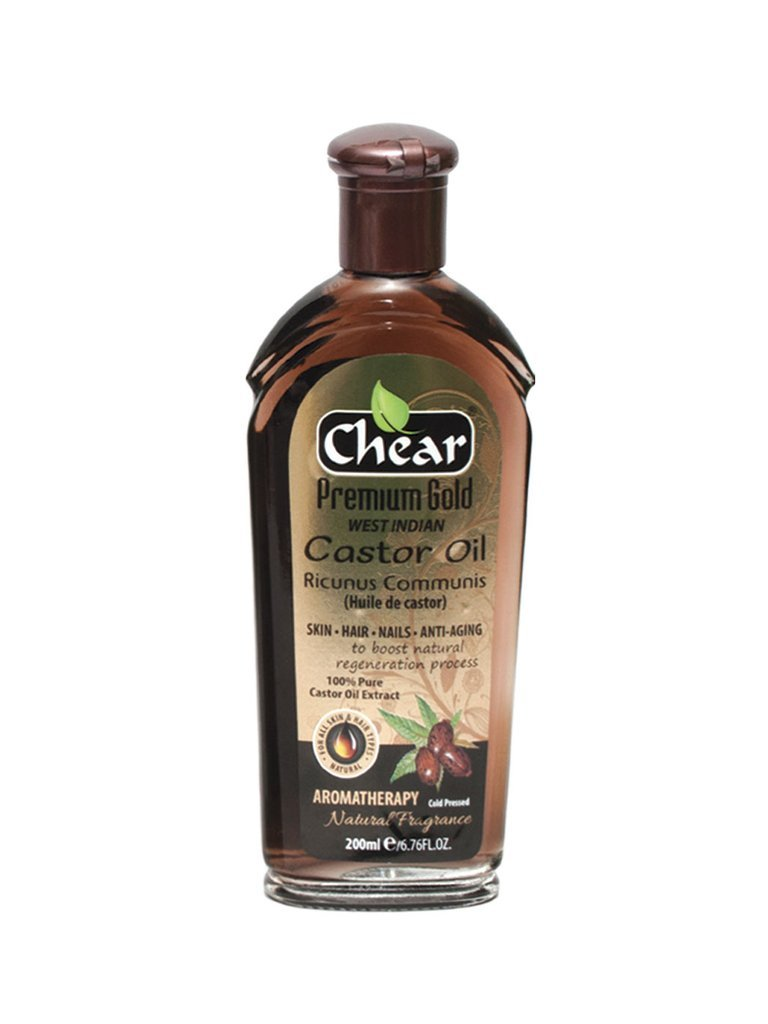 Chear Premium Gold West Indian Ricunus Communis Castor Oil 200ml - Aromatherapy Coldpressed