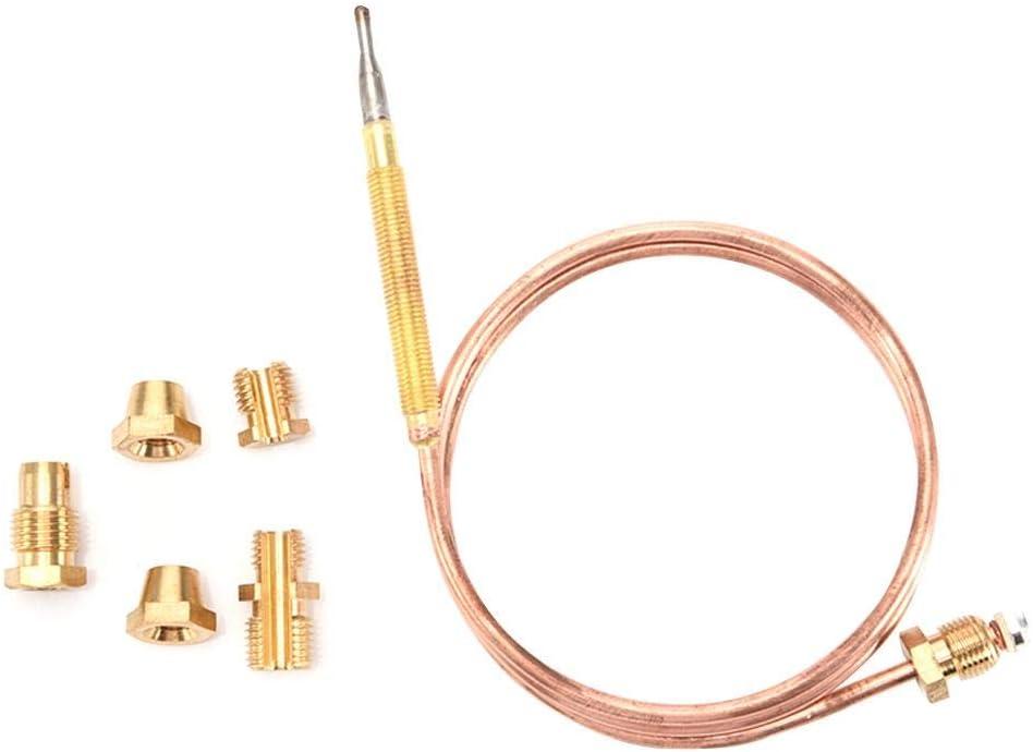 Gas Termopar Kit, Válvula De Gas Línea De Inducción Termopar, 1 Termopar + 5 Accesorios, Adecuado para Todo Tipo De Aparatos De Gas, Incluidos Hornos, Cocinas, Calderas