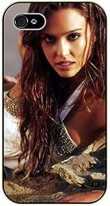For HTC One M9 Case Cover Jessica Alba - black plastic case, hot girl, girls