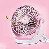 GLJ USB Mini Fan Rechargeable Portable Mini Portable Fan fan (Color : Pink)