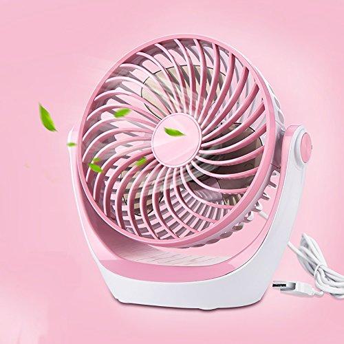 GLJ USB Mini Fan Rechargeable Portable Mini Portable Fan fan (Color : Pink) by GLJ