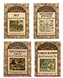 Wildwood Dip & Cheeseball Mix Bundle (4 Pack): Artichoke Spinach, Garlic & Onion, BLT, and Southwest Taco
