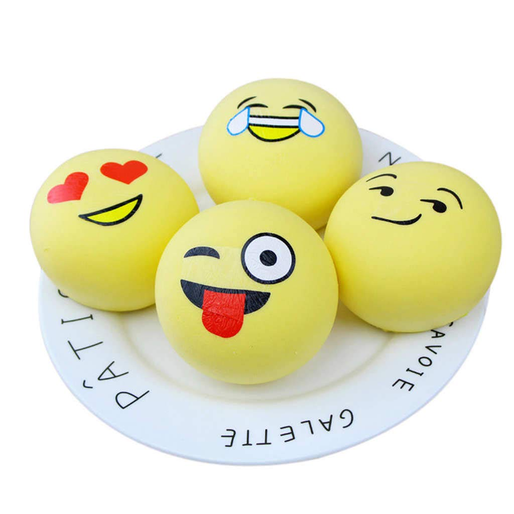 Dianli Squishies, Kawaii Emoji Squishies Super Slow Rising Fruits Scented Squeeze Stress Relief Toys for Kids Adult