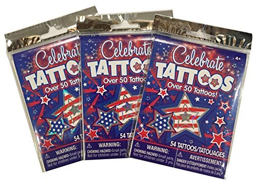 Patriotic Temporary Tattoos - 3 packages ()