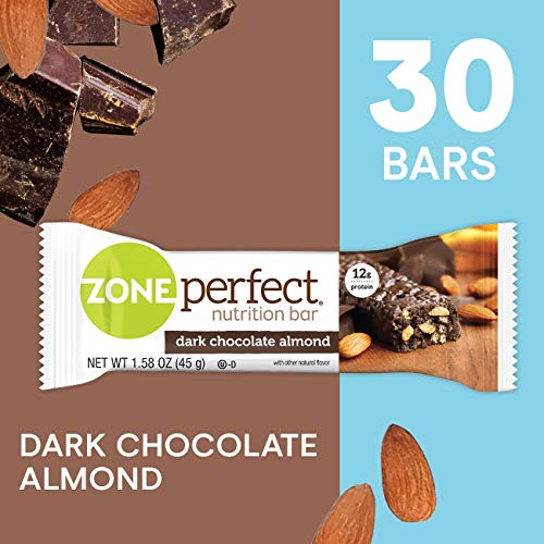 ZonePerfect Nutrition Snack Bars, Dark Chocolate Almond, 1.58 oz, (30 Count)