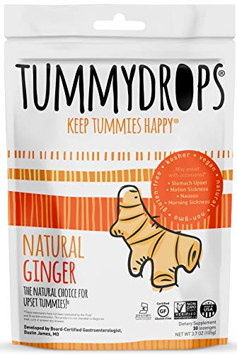 Tummydrops Ginger (bag of 30 individually wrapped drops)