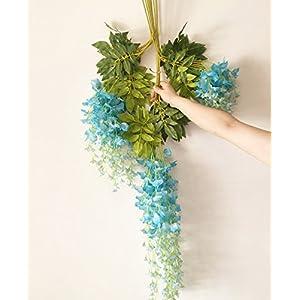 12pcs Wisteria Vine 105cm Artificial Wisteria Flower Vines for Wedding Party Decorative Flower Rattans 2
