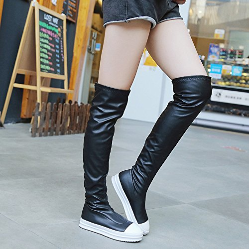 Boots Boots Women Shoes Winter Boot Black Knee Flat Autumn Brezeh The Knee Over Slim Women's x50RqUn4B