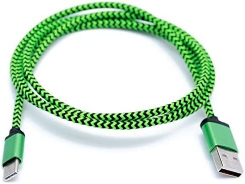 : Cell Stuff Green Braided 3 FT Charging Cable