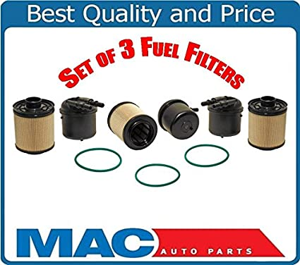 Amazon.com: 3 Fuel Filter PFD4615 Fits For 11-15 F250 Super Duty 6.7 Turbo Diesel BC3Z9N184B: Automotive