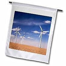 Danita Delimont - Windmills - Electric Windmill, power, Two Buttes, Colorado - NA02 RNU0089 - Rolf Nussbaumer - 18 x 27 inch Garden Flag (fl_84236_2)