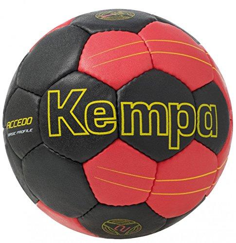 Kempa Ball Accedo Basic Profile, Schwarz/Rot/Fluo Gelb, 2, 200186306