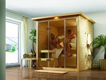 Karibu Holztechnik Gmbh Sauna Karibu Alabasta 1 40 Mm Amazon De Garten