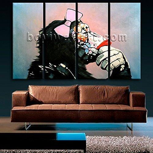 Amazon.com: Huge Figure Canvas Art Contemporary Gorillas Painting ...