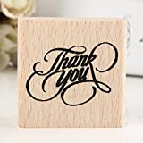 Ioffersuper Vintage Thank You Wooden Rubber Stamp Craft Wedding Party 4 Styles To Choose 4x4x2cm