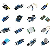 16 pcs Temperature Humidity Sensor DHT11 HC-SR501 Module Kit for Raspberry Pi 3 HC-SR04 Sound HC-SR04 KY-008 YL-69 Vibration Switch Gas Trace TCRT500 etc.