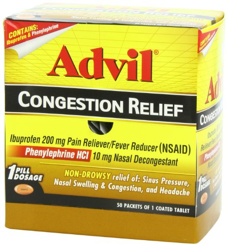 Advil Sinus Congestion Amp Pain Relief 50 Count Packets