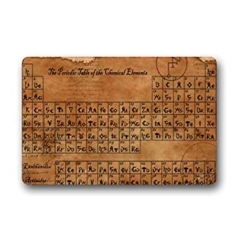 Amazon custom old periodic table of elements stain resistant amazon custom old periodic table of elements stain resistant color indooroutdoor floor mat doormat18x30 inch clothing urtaz Image collections