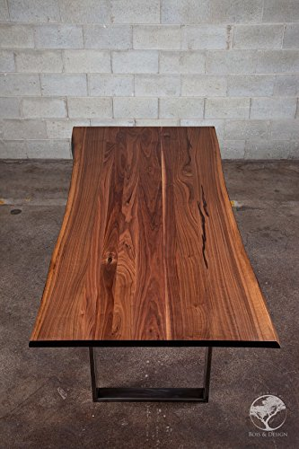 Black walnut dining table on steel DIVERSO