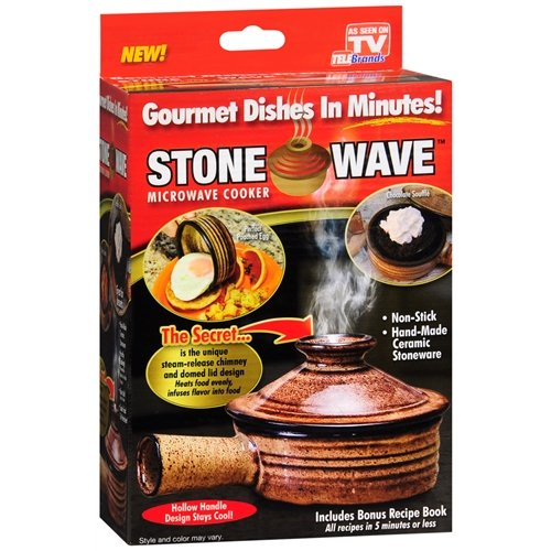 Stone Wave Gourmet Microwave Cooker (Brown) - 1