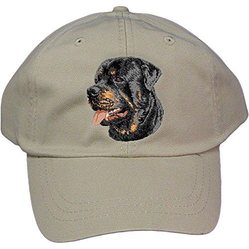 (Cherrybrook Dog Breed Embroidered Adams Cotton Twill Caps - Stone - Rottweiler)