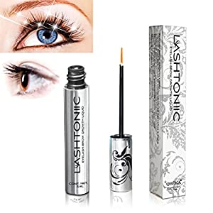 Lashtoniic Eyelash & Eyebrow Growth Serum - Grows Longer, Fuller, Thicker Lashes & Brows in 30 Days - 100% Natural Lash Enhancer Conditioner Treatment, No Irritation