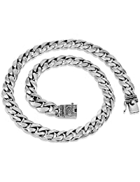 High Class Chain 925 Sterling Silver Necklace for Men All Lengths