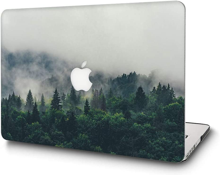 "Case for MacBook Pro 13 Inch - L2W Plastic Printed Protective Hard Cover Compatible with Laptop Mac Pro Oldest 13.3"" with CD Drive (Released in 2009~2011) Model: A1278,Forest"