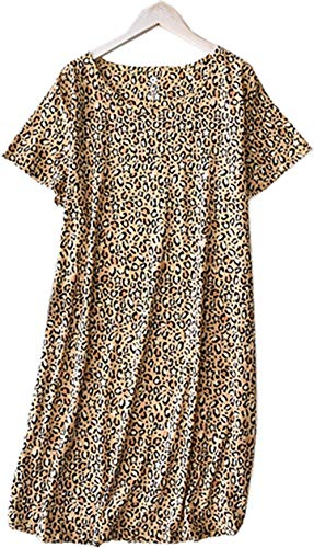 Women's Nightgown Cotton Sleep Tee Nightshirt Casual Print Sleepwear - Print Womens Nightshirt