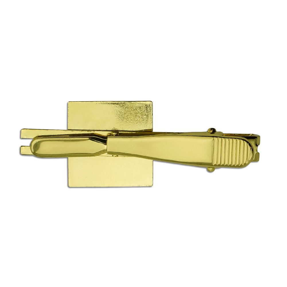 Graphics and More Guess What Chicken Butt Funny Square Tie Bar Clip Clasp Tack Silver or Gold