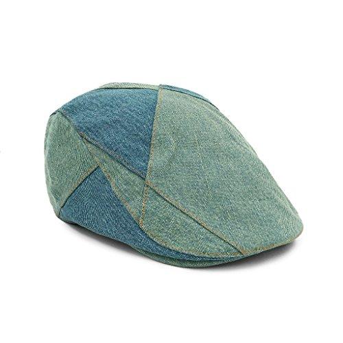 007d8e104bd8 lethmik Denim Flat Cap Newsboy Ivy Irish Hats Jean Cabbie Scally Cap  Duckbill Hat