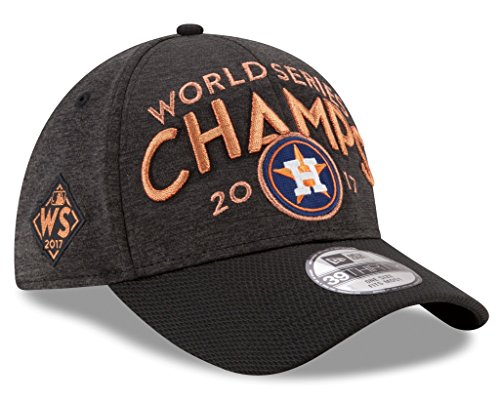 Houston Astros New Era 2017 World Series Champions Locker Room 39THIRTY Flex Hat Graphite