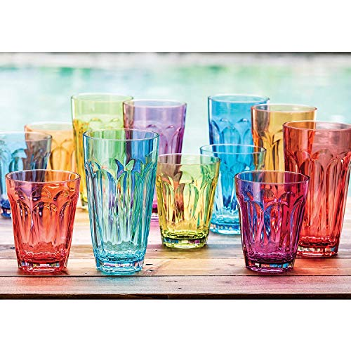 (Tritan Highball and DOF Tumbler Set, 12 Pack - Multicolor)