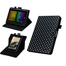 "MiTAB 7"" Polka Dot Rotational Stand Case Cover For The Kobo Arc 2012 / Kobo Arc 7 2013 / Kobo Arc 7 HD"