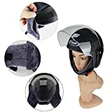 Ezyoutdoor Half Helmets Motorcycle Scooter Mens Winter Women Warm-fog UV helmets Motorcycle Helmets Electric Car Helmet (black)