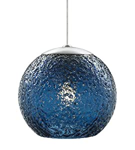 LBL HS546BUSC1BMRL Mini-Rock Candy Round Pendant Light