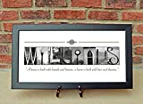 Realtor Closing Gifts, Housewarming Gifts, Alphabet Photography, Custom Name Sign, Family Name Sign Choose a framed or unframed version
