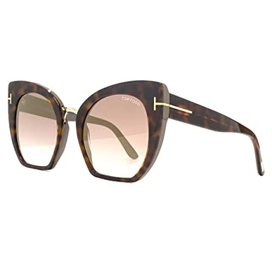 ebe2e41b395 Image Unavailable. Samantha-02 Sunglasses in Havana Brown Mirror - FT0553  56G 55